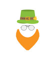 flat design icon on saint patricks day character vector image