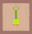 flat shading style icon kids shovel sand vector image vector image