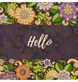Floral card template corporate identity vector image vector image