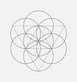 flower of life sign geometric symbol