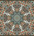 geometric aztec mandala ethnic seamless pattern vector image vector image