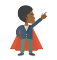 Hero african man pointing up high to the sky vector image vector image