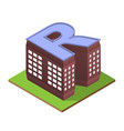 isometric building letter r form vector image vector image