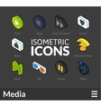 Isometric outline icons set 37 vector image vector image