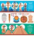 maya horizontal banners set vector image vector image