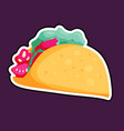 mexican tacos sign vector image vector image