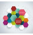 Modern Design with paper hexagones vector image vector image