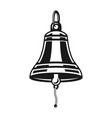 nautical ship bell black object or element vector image vector image