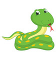 of a cartoon snake vector image