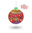 original handmade red ball decoration and vector image