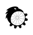 raven merging to cog icon vector image vector image