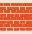 red brick wall seamless vector image vector image