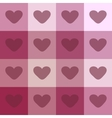 Red hearts on a plaid background vintage seamless vector image vector image