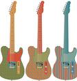 Retro guitar set vector image vector image