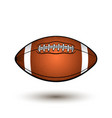 rugby ball with stripes cartoon style oval vector image