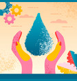 saving planet water vector image