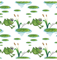 Seamless design with frogs at the pond vector image vector image