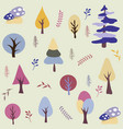 seamless natural ornament pattern vector image