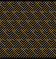 seamless pattern with squares black gold diagonal vector image vector image