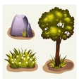 set game environment elements vector image