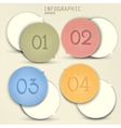 Set of bubbles stickers labels tags Numbered vector image vector image