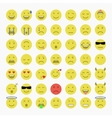 Set of Emoji Avatar and Emoticons vector image vector image