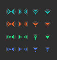 set wireless icons vector image vector image