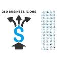 Share Money Icon with Flat Set vector image vector image