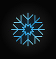 snowflake blue line icon snow linear vector image