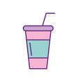 soda plastic cup icon vector image vector image