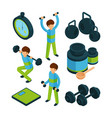 sport exercise isometric equipment for sporting vector image vector image