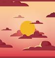 sunshine landscape design vector image