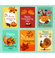 Thanksgiving Day greeting cards set vector image vector image