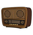 the retro lamp radio vector image