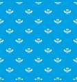 treasure pattern seamless blue vector image vector image