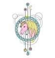 Unicorn Watercolor Tattoo vector image