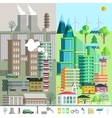 Urban landscape environment ecology elements of vector image vector image