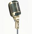 vintage microphone golden color vector image vector image