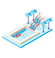 waterpark isometric concept vector image vector image