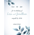 Wedding invitation watercolor with flowers vector image vector image