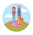 woman and woman with fun picnic recreation vector image vector image