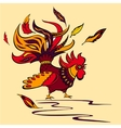 cartoon of a isolate rooster vector image