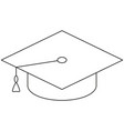 school college university line art icon poster hat vector image