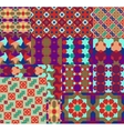 Seamless patterns Set in Moroccan style vector image
