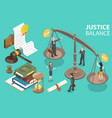 3d isometric conceptual law vector image