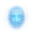3d rendering of robot face on white background vector image