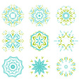 Abstarct natural green and blue ornament object se vector image vector image