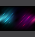 Abstract black background with Blue and purple vector image vector image