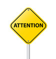 ATTENTION vector image vector image