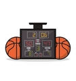 Ball and marker of Basketball sport design vector image vector image
